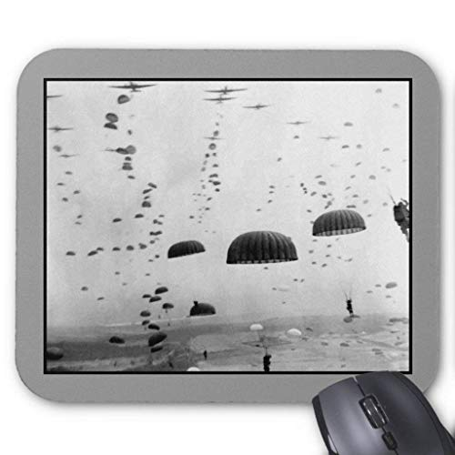 Airborne Mission During Ww2 Painting Mouse Pad 18×22 cm -
