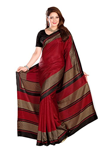 Kavvya Fashion Red Printed Pure Mysore Silk Saree