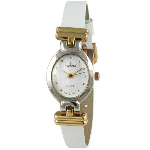 Peugeot orologio pelle vintage ovale bianco 380–23
