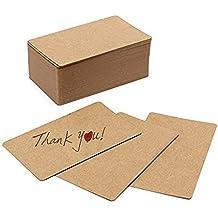 a-goo 100pcs marrón Vintage DIY Palabra de cartón kraft tarjeta
