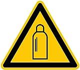 LEMAX® Schild Alu Warnung vor Gasflaschen D-W019 SL 200mm