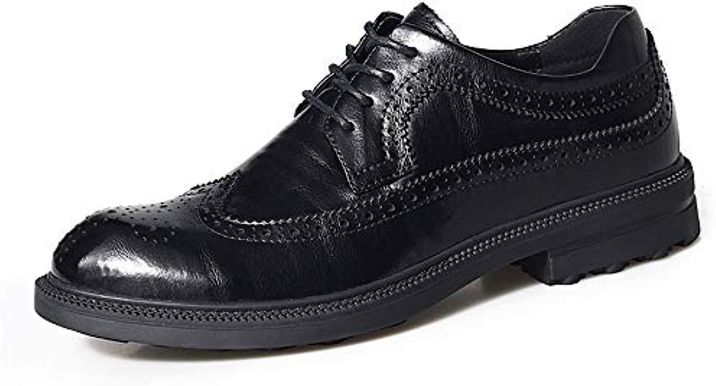 Yajie-scarpe, Scarpe Oxford Oxford Oxford da Uomo per Il Tempo Libero, Scarpe Stile Brogue in Pizzo Stile Classico Low-Top con...   riparazione    Scolaro/Signora Scarpa  af0330
