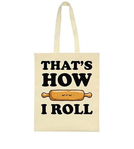 Finest Prints That's How I Roll Rolling Pin Tote Bag Rolling Pin Bakery