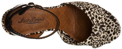 Lucky Brand Viera, Sandales femme Noir - Schwarz (Snake Leopard Print)