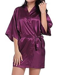 Hibote Dama de Honor de la Mujer Albornoz Batas Kimono Pijamas Vestidos de Las Mujers Inicio