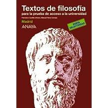 Textos de filosofía para la prueba de acceso a la universidad.