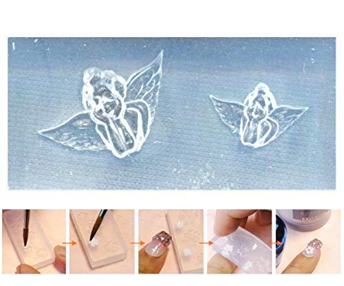 gel Putten Valentine Heiligen Weihnachten 3d Mini-Silikon-Form Für Nail-Art-Kleine Diy-Resin-Form FIMO Miniatur ()