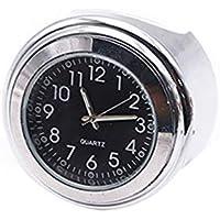 Schwarz Motorraduhren Uhr Wasserdicht aufklebbare Motorradhalterung Uhr Moto Digitaluhr Anzug f/ür alle Moto Autos