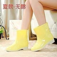 LXYYBFBD Korean version of the short tube bright yellow/women