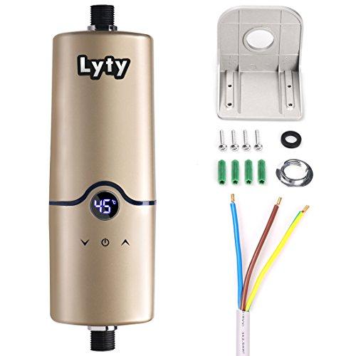 Chauffe-eau instantané électrique instantané de l'eau 220V 4 niveaux de puissance (3.5KW 4.5KW 5KW 5.5KW) Mini chauffe-eau chaude pour la salle de bains de cuisine