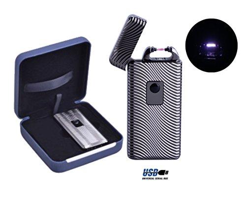 briquet-electronique-arc-rechargeable-port-usb-couleur-au-choix-avec-1-cadeau-bonus-gris