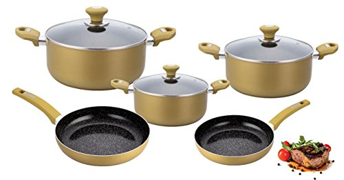 umfangreiches-8-teiliges-topf-und-pfannenset-granit-beschichtung-topfset-pfannenset-olive