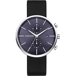 Jacob Jensen Reloj Cronógrafo para Hombre de Cuarzo con Correa en Cuero JJ621