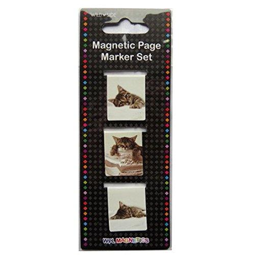 Magnetische Seite Lesezeichen - Schwarz-Weiß-niedliche Kätzchen - bei Wildside (Kätzchen Auch Niedliche)