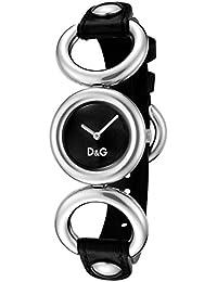 D&G Dolce&Gabbana Damen-Armbanduhr BB SS BLACK DIAL BLACK STRAP DW0407