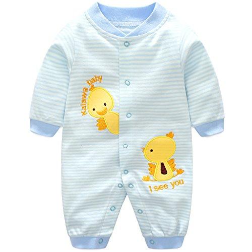 Baby Strampler Spielanzug Jungen Mädchen Schlafanzug Baumwolle Overalls Baby-Nachtwäsche, 9-12 Monate