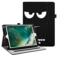 Fintie iPad 9.7 Inch 2017 / iPad Air 2 / iPad Air Case - [Corner Protection] Multi-Angle Viewing Folio Stand Cover w/ Pocket, Auto Wake / Sleep for Apple iPad 2017 Model, iPad Air 1 2, Dont Touch