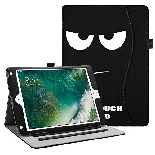 Fintie Hülle für iPad 9.7 Zoll 2018 2017 / iPad Air 2 / iPad Air - [Eckenschutz] Multi-Winkel Betrachtung Folio Stand Schutzhülle Case mit Dokumentschlitze, Auto Wake/Sleep, Don't Touch (4g Ipad Wifi Mini)