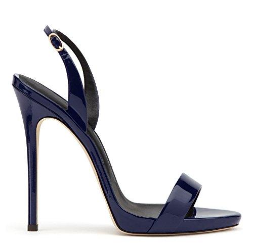 uBeauty - Sandali con tacco alto - Sandali sexy - Sandali della cintura della caviglia Blue