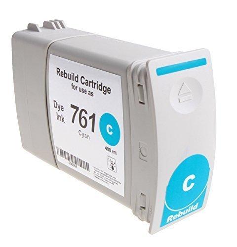 Bubprint Tintenpatrone kompatibel für HP 761 Designjet T 7100 dye cyan (Dye Cyan Hp)