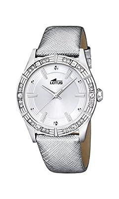 Lotus 15981/1 - Reloj de pulsera Mujer, Cuero, color Plateado