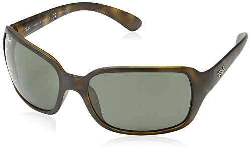 Ray-Ban Damen Sonnenbrille Rb 4068 Matte Havana/Green Polarized, One size (60)
