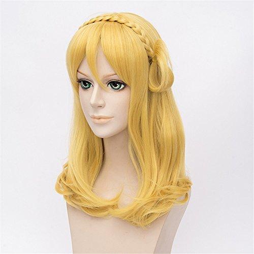 Image of LanTing LoveLive!Sunshine!! Ohara Mari Blonde Cosplay Party Fashion Anime Human Kostüm Full Wigs Synthetic Haar Heat Resistant Fiber Haar