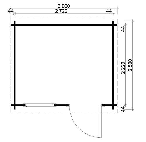 modernes-holz-gartenhaus-maria-rondo-mit-boden-geraeteschuppen-mit-isolierglas-verglasung-300-x-250cm-2