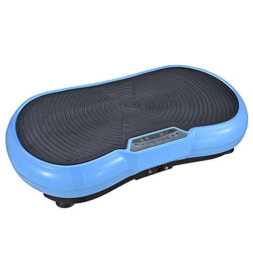 Panan Haus Vibrationsplatte VP200, Profi Vibrationsgerät mit Power Dehnbänder + Fernbedienung + 3D-Vibration - 150 kg - Blau