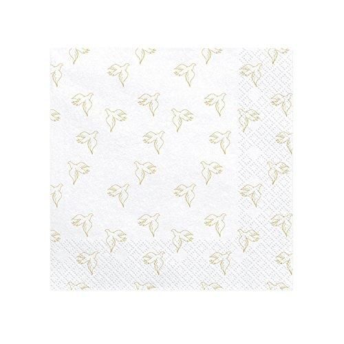 ten weiß, Tauben Gold | aus Papier | Hochzeit | Kommunion ()