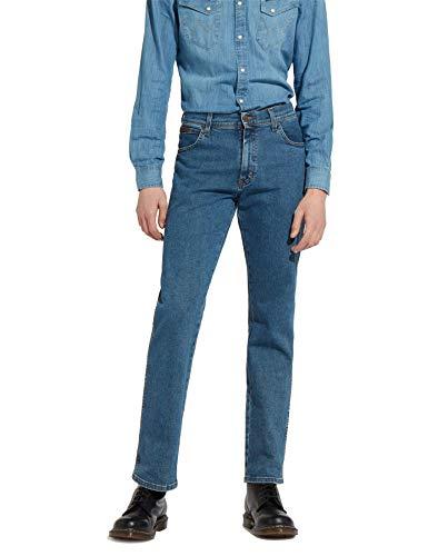 Tab-front Hose (Wrangler Herren Texas Regular Fit Stretch Jeans, Blau, 40W x 34L)