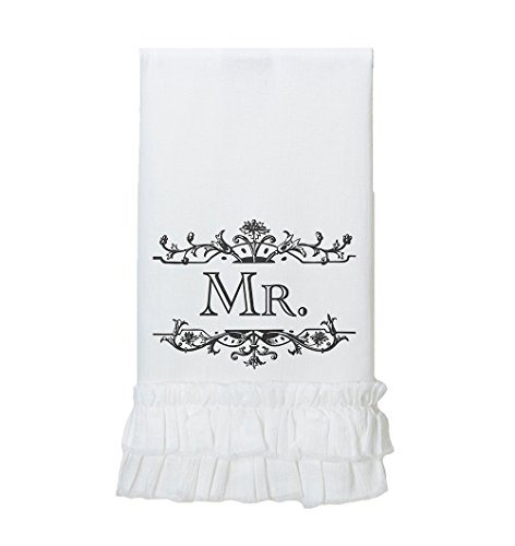 Lillian Rose Mr. Serviette de Cuisine, 34,9 x 21,6 cm, Blanc