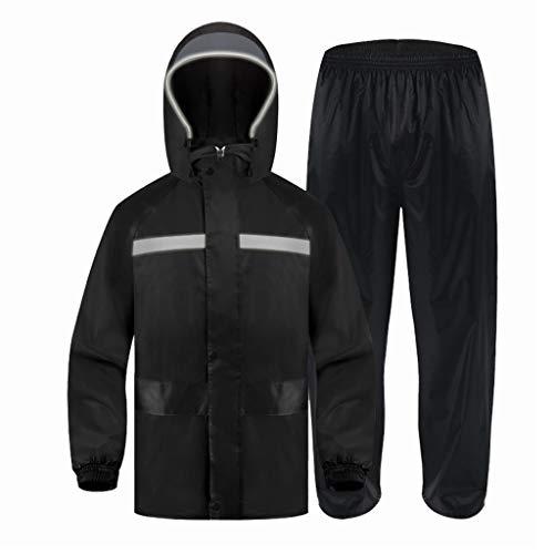 YXF-Chubasqueros Traje de Pantalones de Impermeable para Adultos Ropa de Lluvia para Hombres Ropa de Lluvia Dividida para Mujer Espesar Cortavientos Moto para Al Aire Libre Corriendo Esquí Pescar
