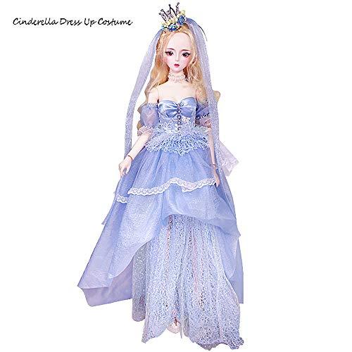 Margotroom BJD Puppenkleidung,Puppenkleider BJD DD SD LUTS Puppenkleidung Geeignet für 22-24in Puppe Kleidung Accessoires Cinderella Traum Fairy Girl Dress Up -