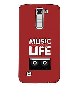 Fuson Designer Back Case Cover for LG K7 :: LG K7 Dual SIM :: LG K7 X210 X210DS MS330 :: LG Tribute 5 LS675 (Music is my life theme)
