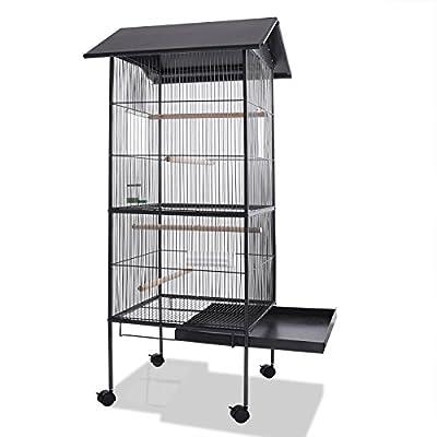 Deuba Bird Aviary Metal Canary Parrot Budgie Birds Cage House Pet Supplies Equipment from Deuba