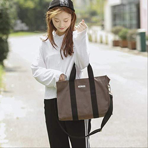 TTBWBW Frauen Mode Kausal Reisen Täglichen Gebrauch Große Kapazität Faltbare Leinwand Tote UmhängetaschenSchokolade -