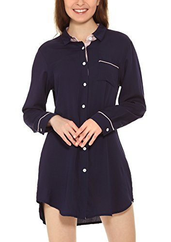 Yulee - Chemise de nuit - Femme bleu/noir