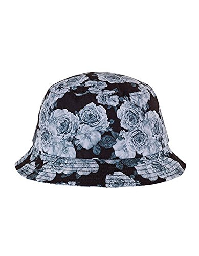 FLEXFIT-Roses-Bucket-Hat-blackwhite