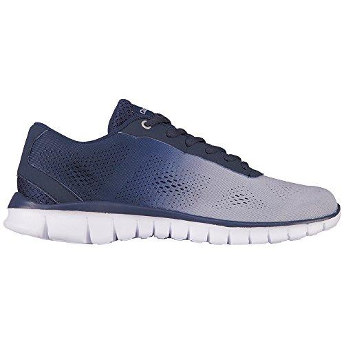 Kappa SUNRISE LIGHT Unisex-Erwachsene Sneakers Blau (1467 L`GREY/NAVY)