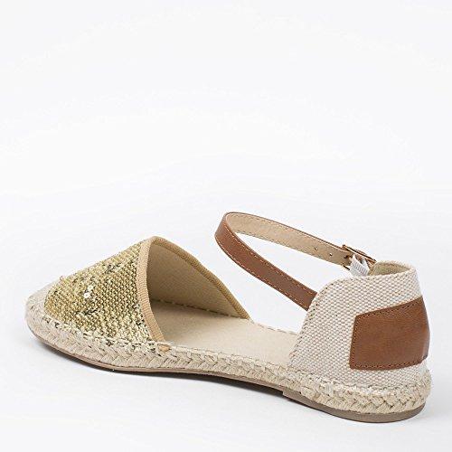 Dorée Sapatos Com Decoradas Noiva Ideais Vaite Sandálias Lantejoulas Ouro qqO1UTw