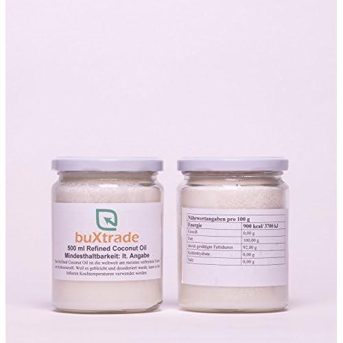 1 Glas 500ml Refined Coconut Oil Kokosnussl L Kochen Kokosnuss Kokosl Kokosfett
