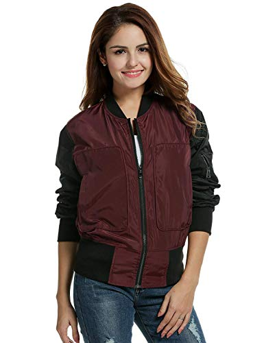 Damen Motorrad Jacken Elegante Wasserdichte Patchwork Mantel Party Herbst Jacke Winter Stil Bomberjacke Trendigen Fliegerjacke Slim Fit Mode...