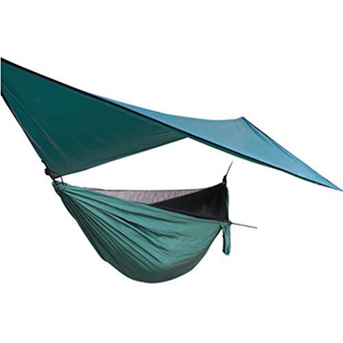 �ngematten-Baldachin-Set Winddichtes Anti-Moskitonetz-Baldachin Plus Elastisches Outdoor-Moskitonetz-Hängematten-Set (Farbe: Moskitonetz-Hängematte + Baldachin) ()