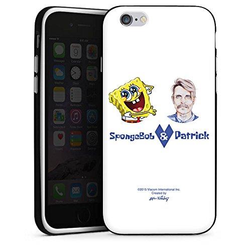 Apple iPhone X Silikon Hülle Case Schutzhülle Spongebob Merchandise Fanartikel Patrick Mohr Silikon Case schwarz / weiß