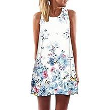 ZARLLE Vestido De Mujer, Mujer Verano Moda Casual Vestido De Playa Floral PatróN Vestir Con