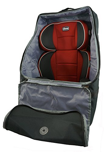 K-Cliffs Car Seat Travel Backpack Bag Quality Car Seat Storage Booster Seat Carrier with Padded Backpack Straps Black