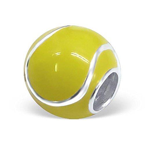 Tennis Ball Charm Bead In 925Prägung 925Sterling Silber–Grün (Tennis Ball Charm)