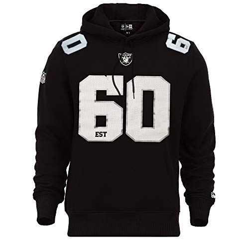 New Era Oakland Raiders Hoody NFL Established Number Black - L