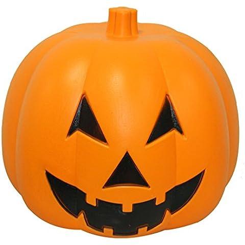 Calabaza de Halloween/ activado por voz calabaza/Bar luces de decoración de terror-A